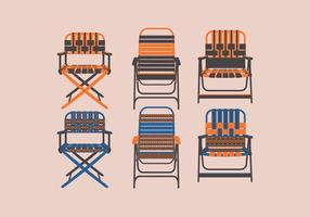 Lawn Chair Front View Vector