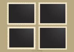 Photo Frames With Retro Edges Vector