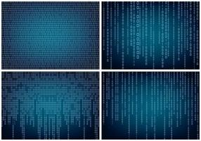 Matrix Style Binary Background vector