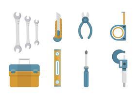 Vectores planos de herramientas
