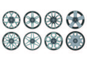 Icon Of Alloy Wheels vector