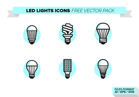 Led Lights Pictogrammen Gratis Vector Pack