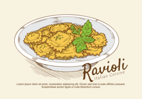 Ravioli Vector Illustration