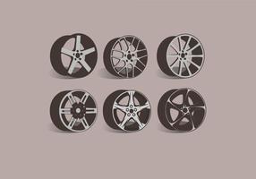 Aleación de ruedas de vista lateral Vector