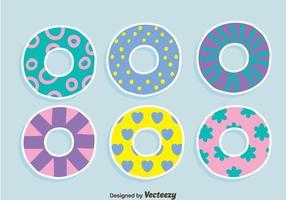 Vecteurs de tube intérieur d'eau colorée