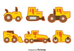 Nice Construction Machine Collection Vector