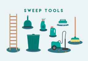 Free Sweep Tools Vector Icon