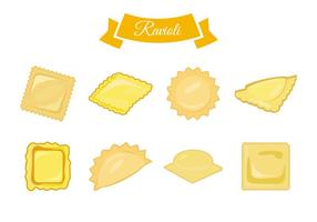 Gratis italiensk mat Ravioli Vector