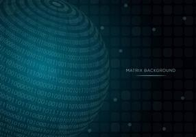 Sphere Matrix Background Vector