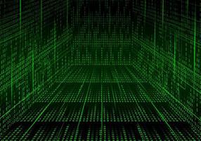 Flur Matrix Hintergrund Vektor