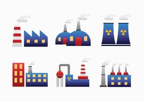Factory Smoke Stack Vector Pack