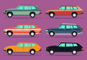 Bunte Station Wagon Vector Sammlung