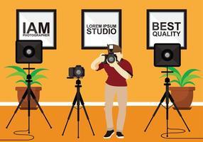 Statief Studio Gratis Vector
