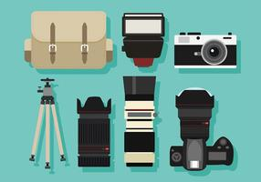 Photography Set Free Vector