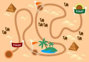 Desert Roadmap Gratis Vector