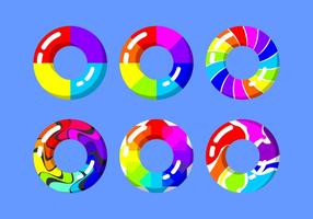arcobaleno innertube vettoriali gratis