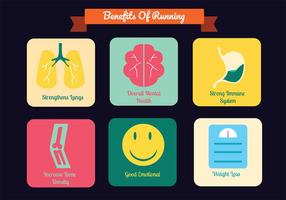 Running Benefits Vector Pack