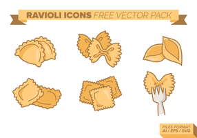 Paquet vectoriel gratuit de raviolis
