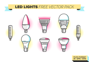 Led luces Iconos paquete vectorial gratis