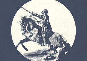 Illustration vintage de cavalerie de vecteur