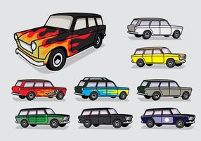 Station Wagon Color Aangepaste Vector