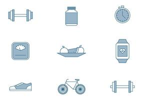 Fitness Elements Icons vector