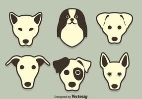 Chien Breed Face Collection Vector