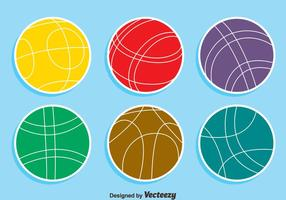 Colored Bocce Ball Vector