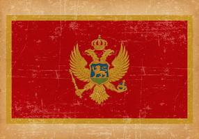 Grunge Vlag van Montenegro
