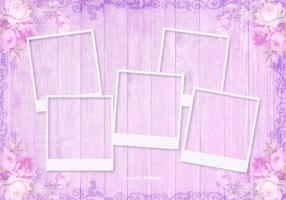 Photo Templates on Beautiful Wood Background vector