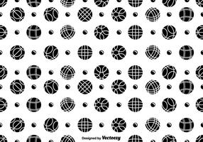 Vector Seamless Bocce Balls And Pentaque Ball Icons Pattern
