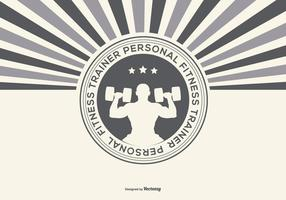 Retro Personal Fitness Trainer Illustratie