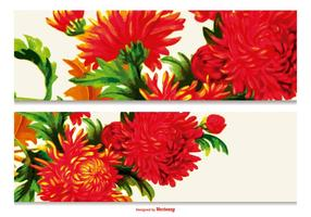 Vacker Floral Banner Collection