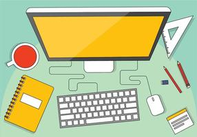 Illustration de bureau Vector Free Design