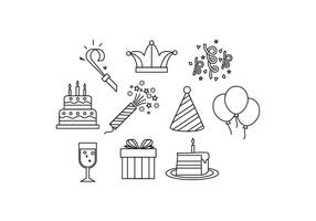 Gratis Party Line Icon Vector