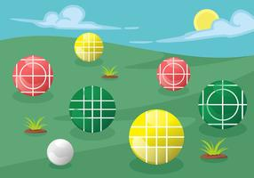 Bocce Vector Illustration