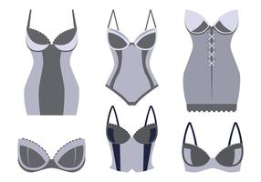 Bustier Vectoren Collectie