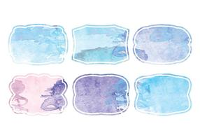 Vector Watercolor Tags