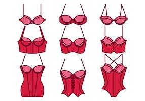 Collection bustier icons