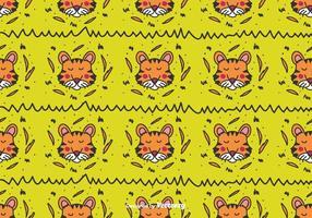 Doodle Tiger Vector Pattern