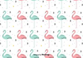 Hand Drawn Flamingo Vector Background