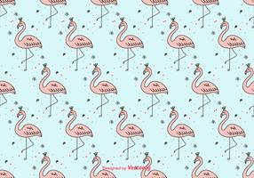 Girly Flamingo Vector Background