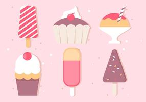 Gratis Vector Ice Cream Illustrationer