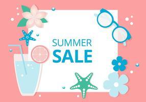 Freier flacher Entwurfs-vektor Sommer-Verkauf