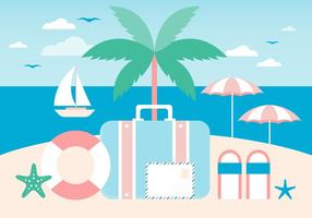 Design Vector Summer Time Scenery