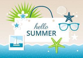 Vector de diseño libre de verano de fondo