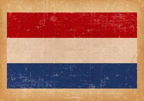Grunge flagga av Nederländerna