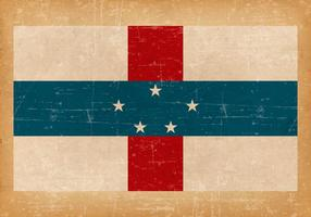Grunge flagga av Nederländska Antillerna