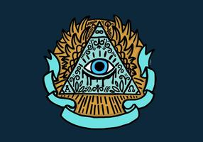 Illuminati eye pyramid