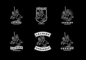 Vector do logotipo da cavalaria